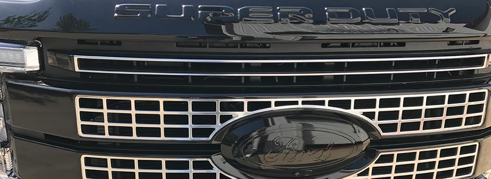 Painted truck grille